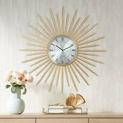 Castallia Gold 28 Round Metal Wall Clock