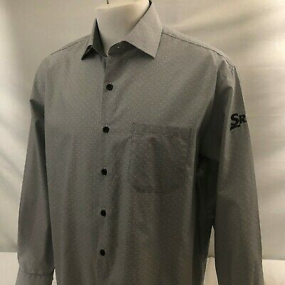 Straight Down Clothing Button Front Shirt Large Grey Srixon XXIO Cleveland Golf