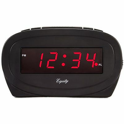 30228 Equity by La Crosse Electric 0.6 Red LED Display Digital Alarm Clock