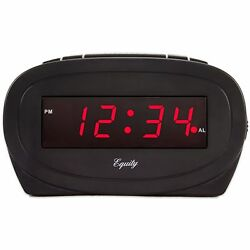 30228 Equity by La Crosse Electric 0.6 Red LED Display Digital Alarm Clock