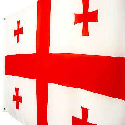 Fahne Georgien Querformat  90 x 150 cm Georgien Hiss Flagge Nationalflagge