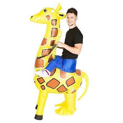 AUFBLASBARES GIRAFFENREITKOSTÜM FÜR ERWACHSENE TIERE ZOO SAFARI - Safari Kostüm Für Erwachsene