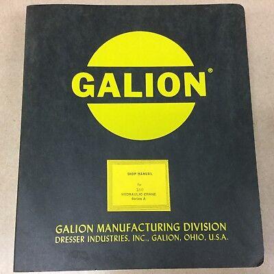 Galion 150 Series A SERVICE SHOP REPAIR MANUAL HYDRAULIC RT MOBILE CRANE GUIDE - Mobile Shop Crane