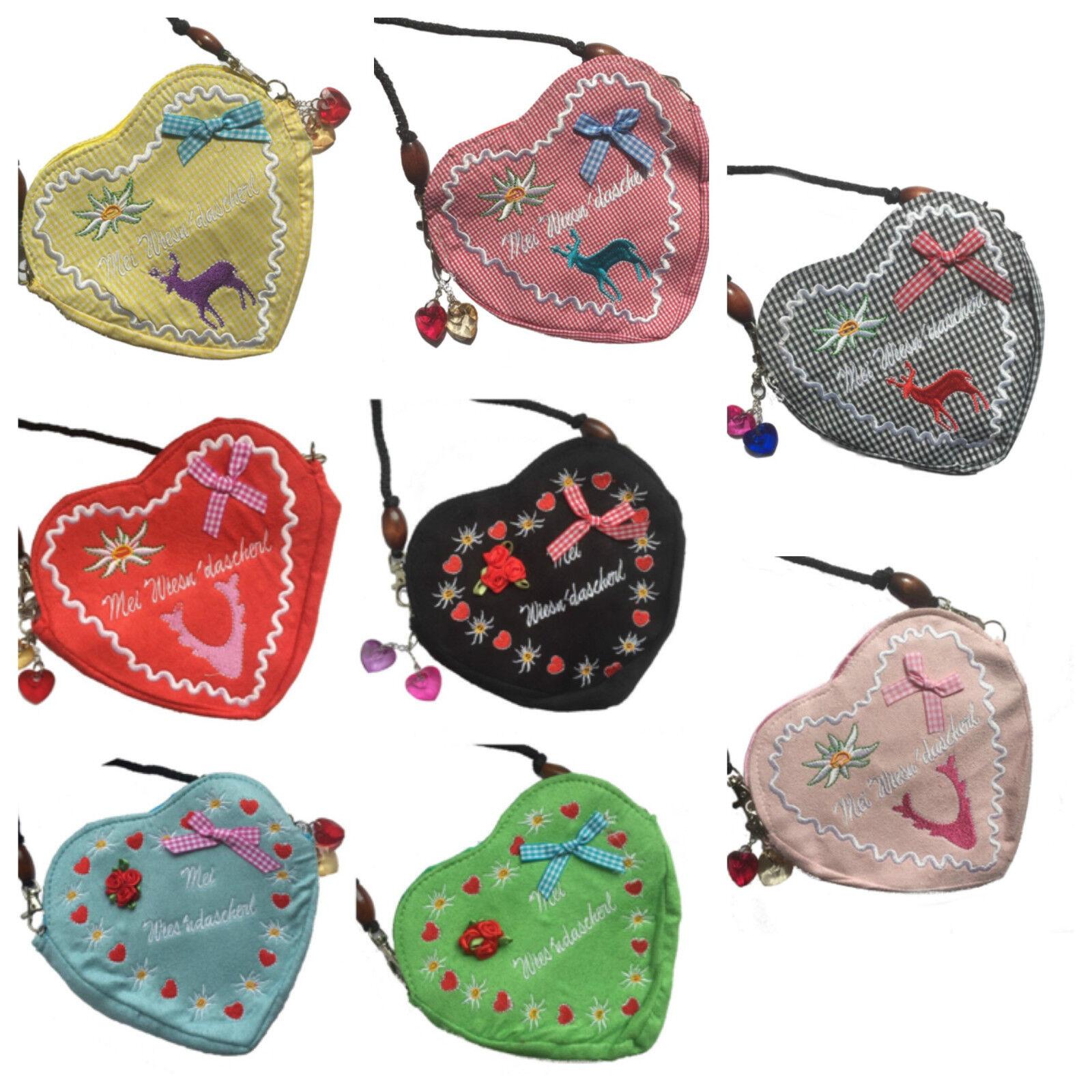 Dirndltasche Trachten-Tasche Handtasche Oktoberfest Tasche Herz Wiesn Dascherl