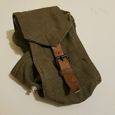 HUNGARIAN UTILITY POUCH FOR 7.62X39. GENUINE 3 CELL SOVIET