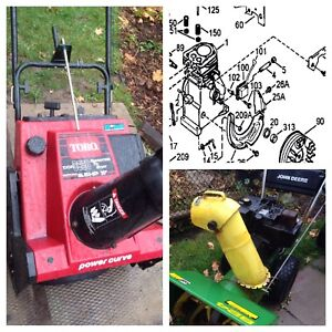 Snowblower tuneup, service, repair, and advice.