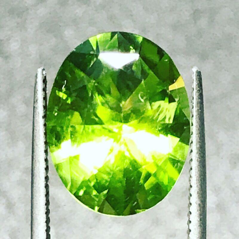 Green Peridot Natural 5.62 Carat Oval Genuine Loose Gemstone Fine Gem