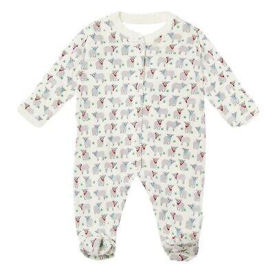 ex UK Chainstore Brand Unisex Jolly Lamb Printed Sleepsuit Romper 0-6 Months
