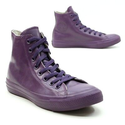 Used, Converse Ladies 8.5 (Men 6.5) Chuck Taylor All Star Rubber Rain Boots Purple for sale  Shipping to Canada