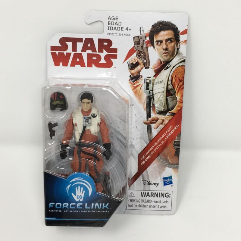 Force Link Figure 3.75 Inches Hasbro C1507 Star Wars Resistance Pilot The Last Jedi Poe Dameron