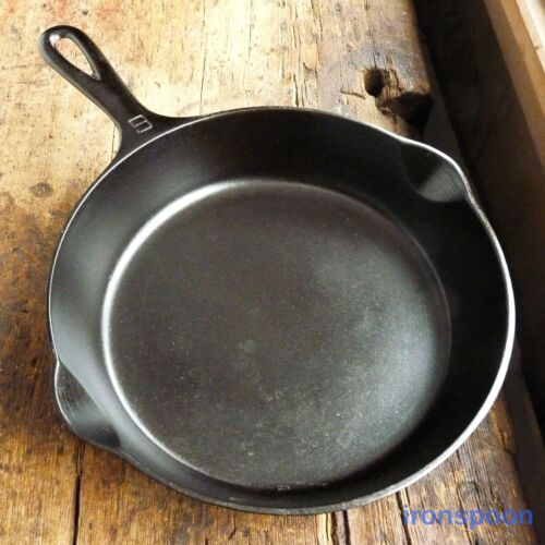 Vintage GRISWOLD Cast Iron SKILLET Frying Pan # 6 SMALL BLOCK LOGO - Ironspoon