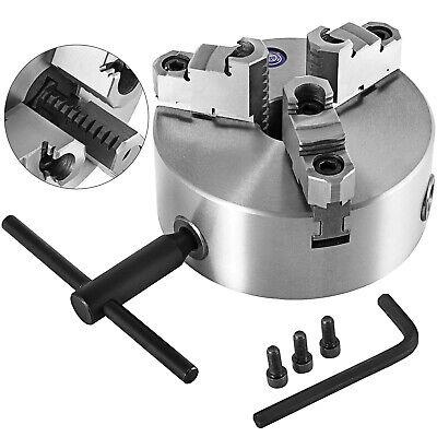 K11-160 6 3 Jaw Lathe Chuck Reversible Jaw Milling Cast Iron Self-centering