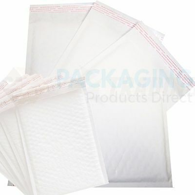 300 x Bubble Padded Bags Envelopes 215x320mm WHITE PP6