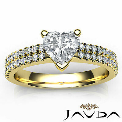 Heart Cut Diamond Engagement Double Prong Ring Certified by GIA F Color VS1 1Ct 10