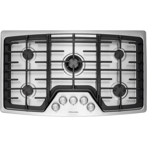 "Electrolux 36"" Built-In Gas Cooktop Stainless Steel EW36GC55PS"