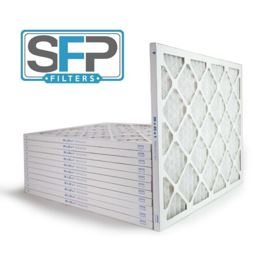20x25x1 Merv 13 Pleated AC Furnace Filters. Case of 12, Captures airborne virus!