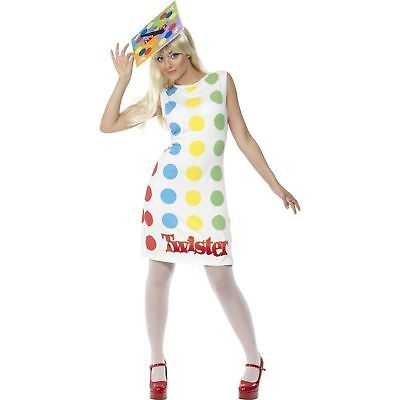 60's Twister Game Novelty 1980's Fun Ladies Womens Fancy Dress Costume - Twister Game Costume