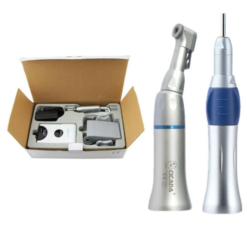 US Dental Portable Electric Micro motor  + Contra Angle Straight Handpiece Business & Industrial