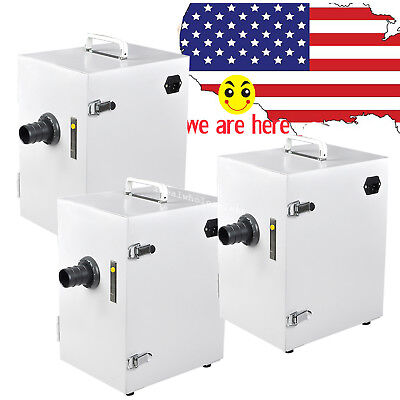 3x Dental Lab Industry Use Digital Single-row Vacuum Air Dust Collector Cleaner