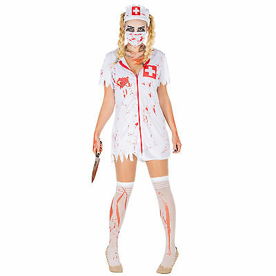 Sexy Zombie-Krankenschwester Kostüm Karneval Fasching Halloween Horror - Sexy Krankenschwestern Kostüm