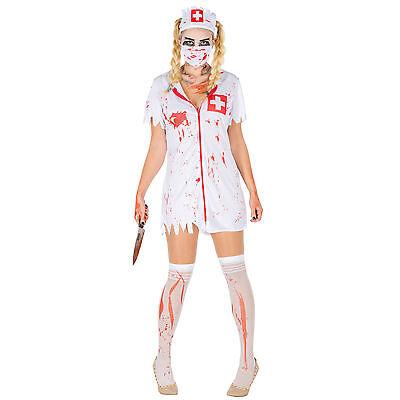 Sexy Zombie-Krankenschwester Kostüm Karneval Fasching Halloween Horror Damen