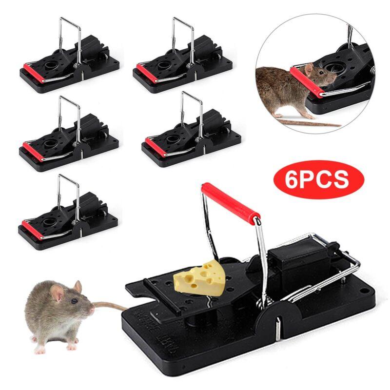 6PCS//SET MOUSE TRAP CATCHING HEAVY DUTY SNAP  TRAP-EASY SET//BAIT//PEST CATCHER