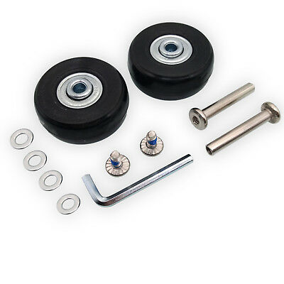 US Stock 2Set OD 45mm Luggage Suitcase Replacement Wheels Axles Repair Wrench