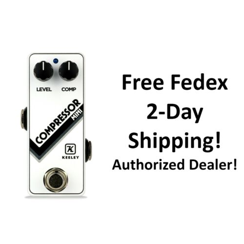 New Keeley Compressor Mini Ltd. Ed. Arctic White Guitar Effects Pedal