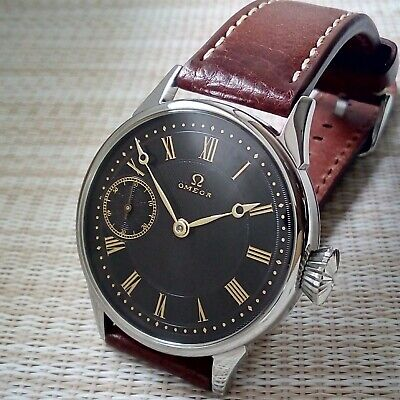 Men's OMEGA. Swiss Quality Vintage Movement of Pocket Watch in new steel case.