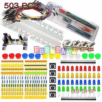 MB102 Breadboard Kit K2 Power Supply Jumper U Cable Wires Arduino Raspberry Pi