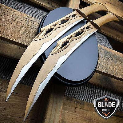 HOBBIT LORD OF THE RINGS FIGHTING KNIVES OF TAURIEL REPLICA DAGGERS + PLAQUE NIB
