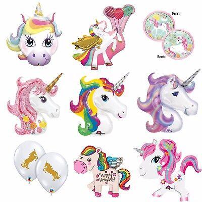 Unicorn Balloons Foil Latex Birthday Party Decoration Supplies Magical Rainbow - Magic Birthday Party