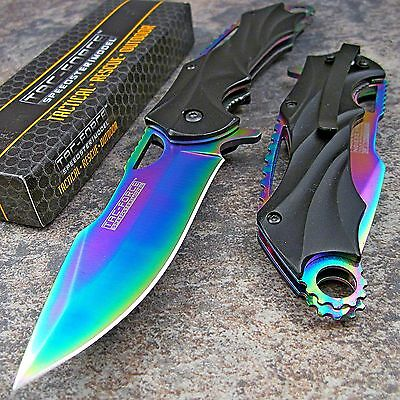 TAC-FORCE RAINBOW SPECTRUM Folding Blade Spring Assisted Open Pocket Knife NEW!!
