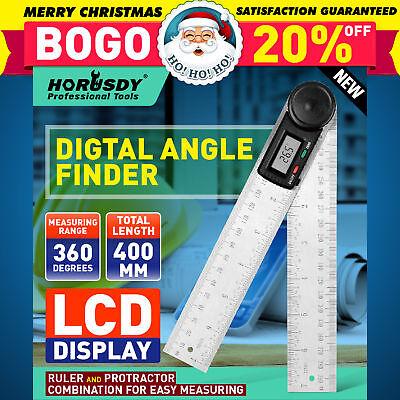 8 Electronic Digital Protractor Goniometer Angle Finder Miter Gauge 2 Batteries