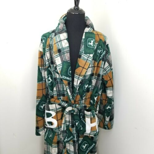 John Deere Custom Hand Sewn Fleece Bath Robe