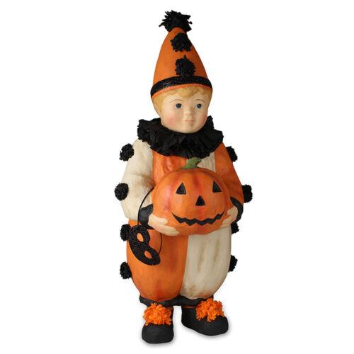 Bethany Lowe Large Halloween Clown Boy Pumpkin Party Retro Vntg Decor Figurine