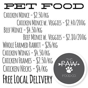 Pet Food - the PAW food co. Medowie Port Stephens Area Preview