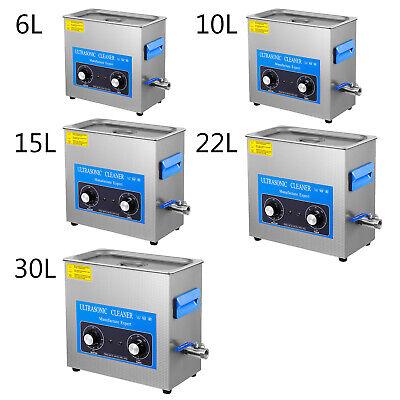 Vevor Ultrasonic Cleaner Knob Jewelry Cleaner Heater Wtimer 6l 10l 15l 22l 30l