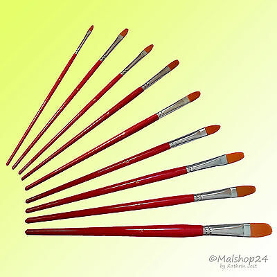 Katzenzungen Katzenzungenpinsel  Pinselset  Pinsel-Set: 9-teilig für Acrylfarben