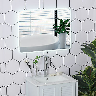 """LED Illuminated Bathroom Vanity Mirror Wall Mounted 24""""x32"""" Touch Switch"""