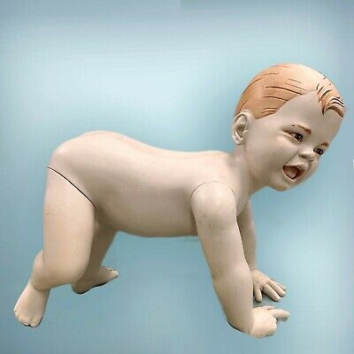 Goldsmith Crawling Baby Boy Realistic Mannequin Cute High Quality Vintage Used
