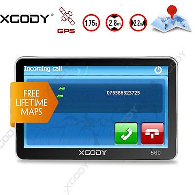 XGODY 5'' SAT NAV In-Car GPS Navigation 2D/3D UK EU Map Hands-free Calling FM