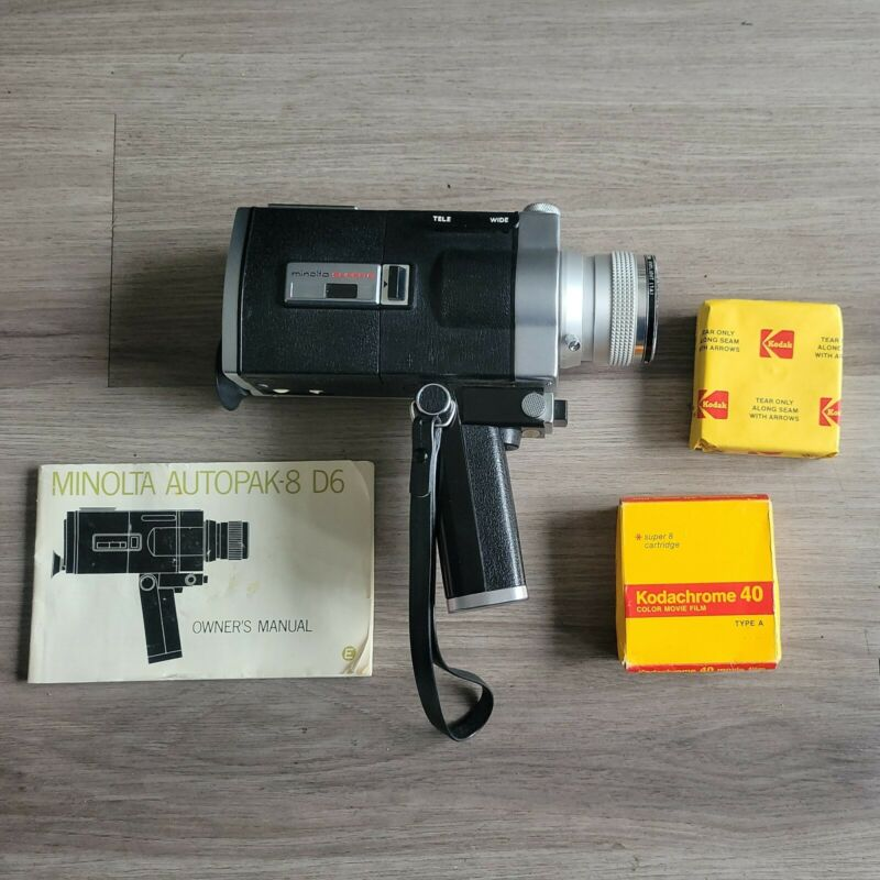Vintage Minolta Autopak-8 D6 Camera with Case (Tested!) Made in Japan FREE SHIP!