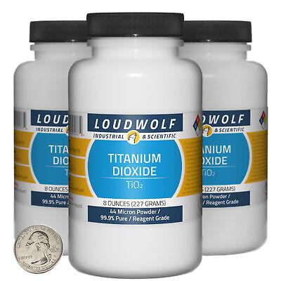 Titanium Dioxide 1.5 Lbs 3 Bottles 99.9 Reagent Grade 44 Micron Powder