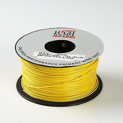 500ft Yellow 22 Awg Gauge Stranded Hook Up Primary Wire Material Copper Pvc