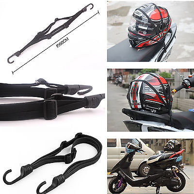 Motorcycle Electric Bike Luggage Rack Fixed Cargo Helmet Storage Resilient Rope