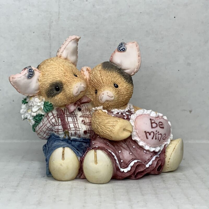 This Little Piggy Figurine 1995 Swill You Be Mine Enesco Vintage Valentines