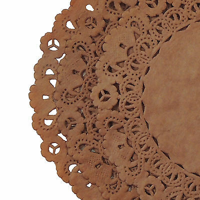 CHOCOLATE BROWN PAPER Lace DOILIES || 4