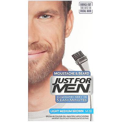 Just For Men Light Medium Brown Moustache and Beard M-30- GENUINE