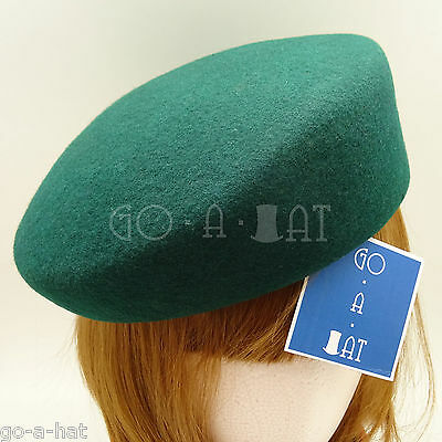 Plain Party Hats (CLASSIC Wool Felt Women Cadet Hat Military Pillbox Plain Party Cloche |)